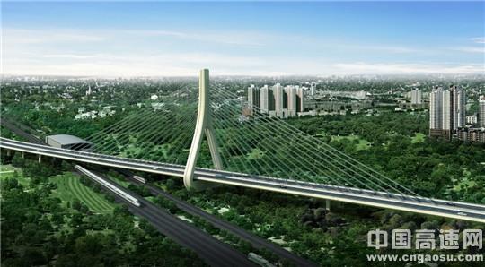 京新高速上地斜拉桥